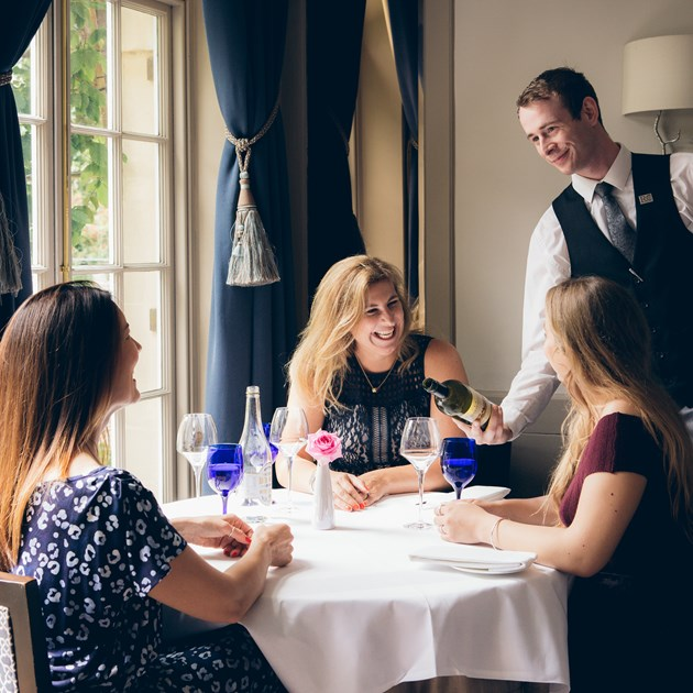 Enjoy impeccable service when dining with us.