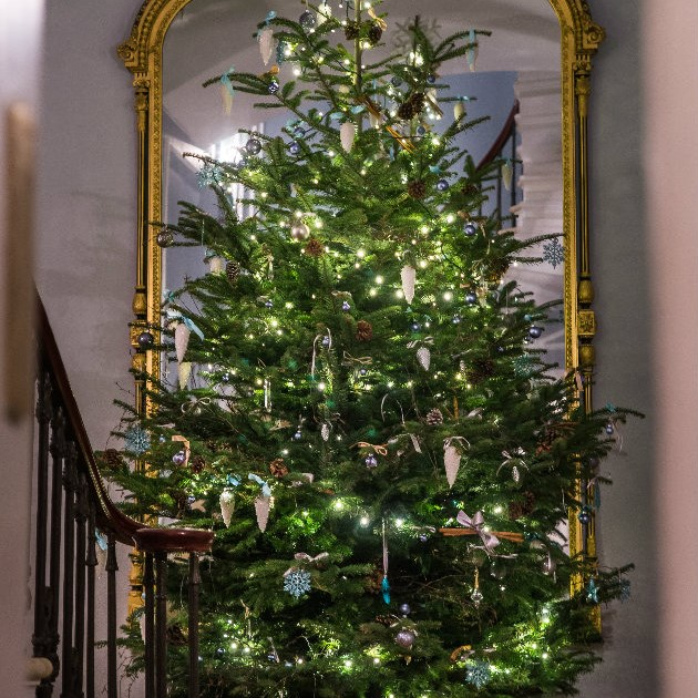 The Christmas tree at The Royal Crescent Hotel & Spa in Bath.