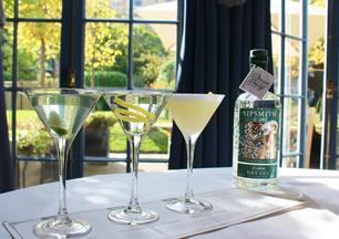 Perfect for a sunny day, the Sipsmith Flight cocktail is served at The Montagu Bar in Bath
