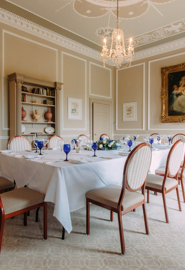 The Duke of York room set for a private dining event.