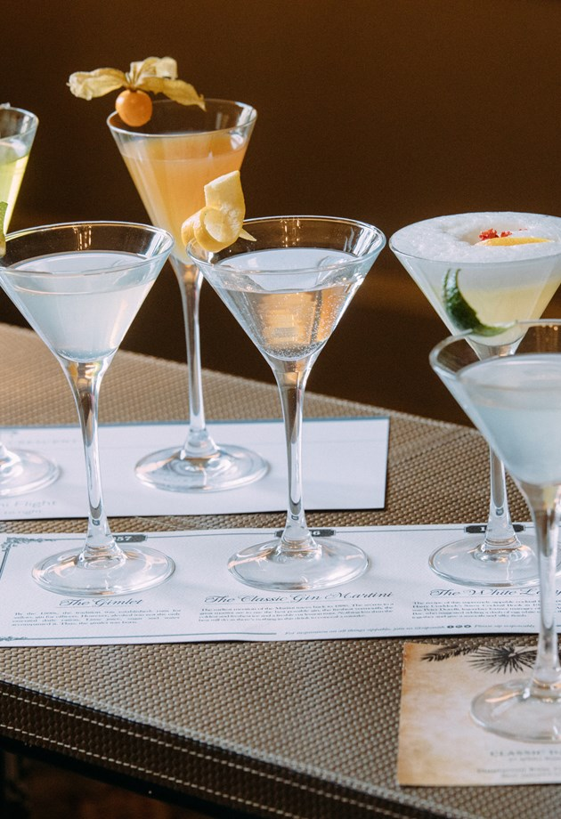 Drink flights available at The Royal Crescent Hotel & Spa.