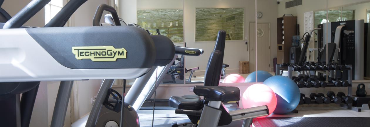 The gym at The Royal Crescent Hotel & Spa in Bath.