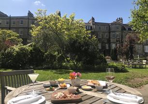 Make the most of great weather and dine al fresco in Bath.