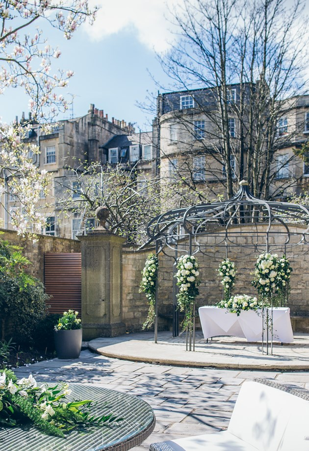 Our outdoor wedding venue in Bath. Only at The Royal Crescent Hotel & Spa.